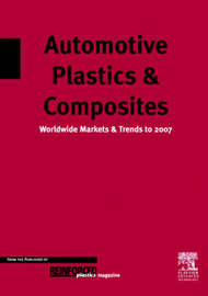 Automotive Plastics and Composites: Worldwide Markets and Trends to 2007 by D. Mann