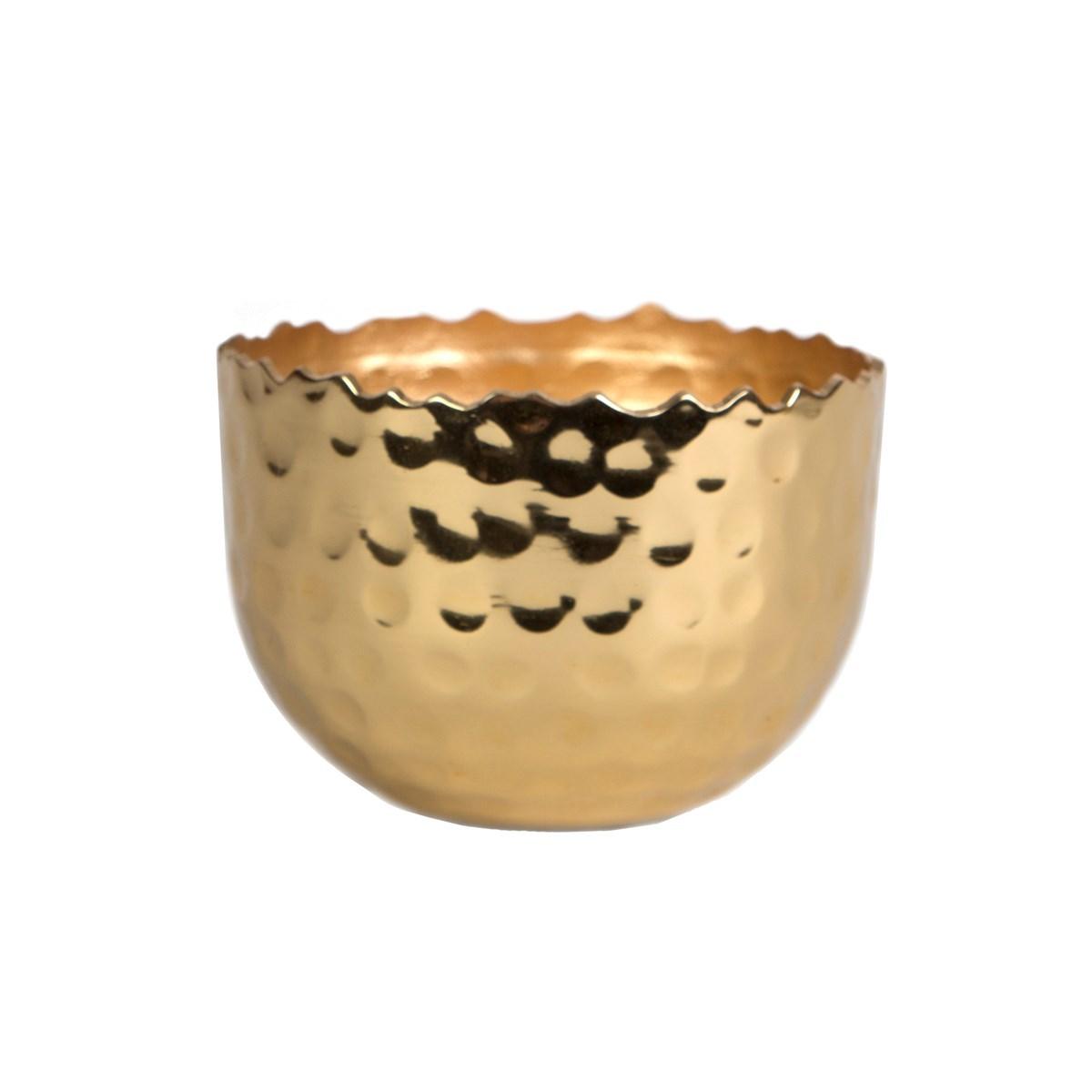 Hammered Brass Tealight Holder image