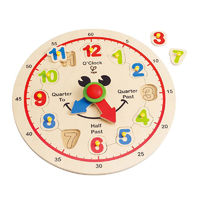 Hape: Happy Hour Wooden Clock