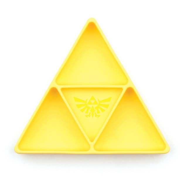 Bumkins: Silicone Grip Dish Nintendo Tri Force