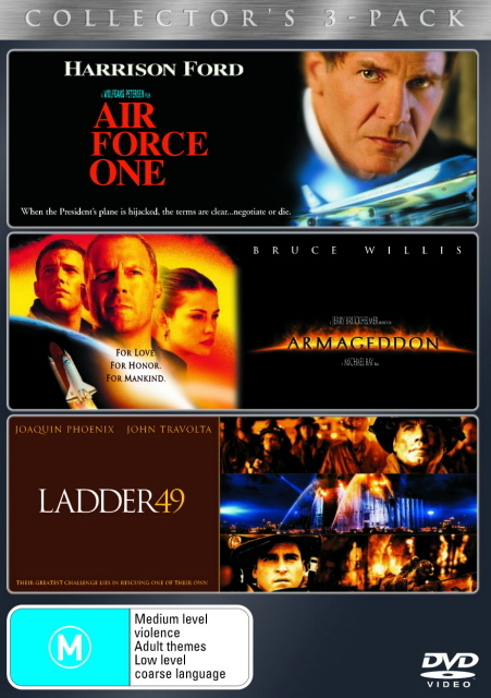 Air Force One / Armageddon / Ladder 49 - Collector's 3-Pack (3 Disc Set) on DVD