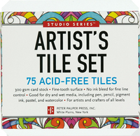 Artist's Tile Set: 75 Acid-Free White Tiles (Studio Series)