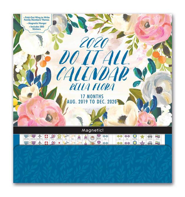 Bella Flora 2020 Do It All Wall Calendar