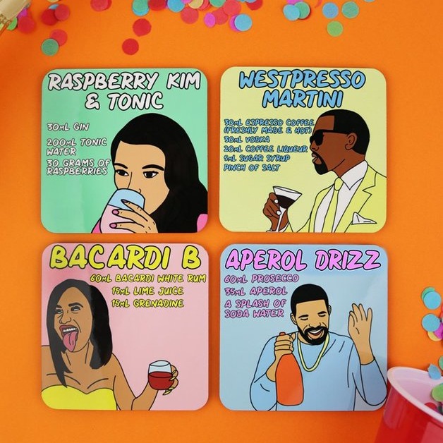 Sippin' Cocktails When We Thirsty - Coaster Set