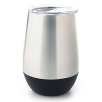 Stainless Steel Insulated Glass - Black (350ml)
