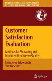Customer Satisfaction Evaluation by Evangelos Grigoroudis