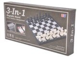 Magnetic 3 in 1 (Chess/Checkers/Backgammon) 14""