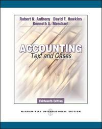 Accounting: Texts and Cases (Int'l Ed) by Robert N. Anthony