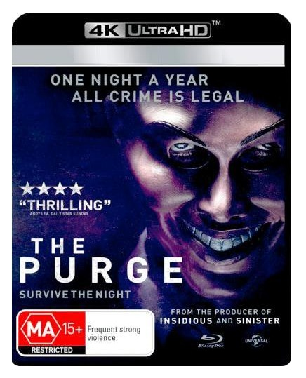 The Purge on UHD Blu-ray image