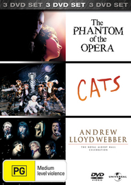 Phantom of the Opera / Cats / Andrew Lloyd Webber 50th Birthday Celebration (3 Disc Set) on DVD image