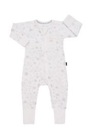 Bonds Zip Wondersuit Long Sleeve - Glittered Galaxy White (0-3 Months)