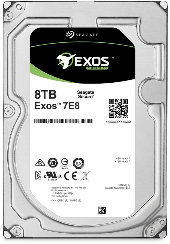 "8TB Seagate Exos 7E8 Enterprise 3.5"" 7200RPM SAS HDD"