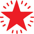 X-Stamper Stamp Twinkle Star Red