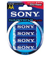 Sony AM3B4 Alkaline Battery AA 4Pk Plus