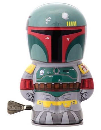 "Star Wars - 4"" Boba Fett Windup Tin Toy"