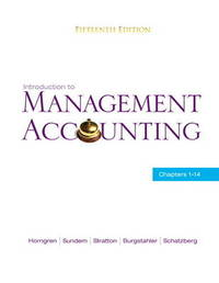 Introduction to Management Accounting by Gary L Sundem image
