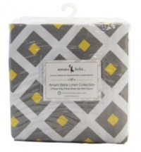 Amani Bebe: Fitted Sheet Set - Lemon Twist