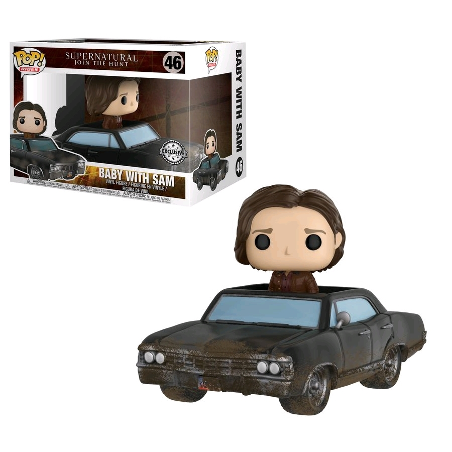 Supernatual - Baby with Sam Damaged Pop! Rides Vinyl Set (with a chance for a Chase version!) image