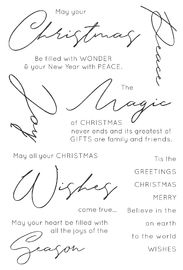 Kaisercraft: Clear Stamp - Christmas Wishes