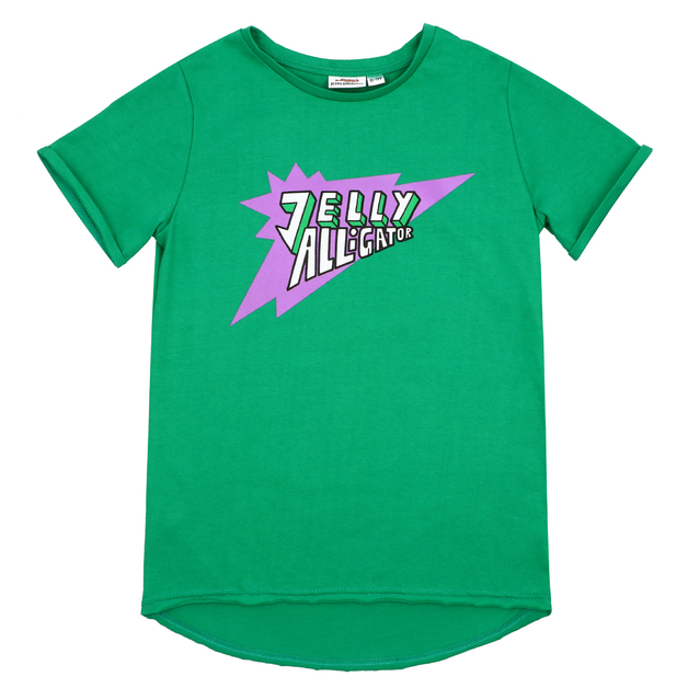 Jelly Alligator: Green Short-Sleeve T-Shirt - 4-5Y