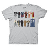 Doctor Who 12 Doctor Outfits T-Shirt (Large)