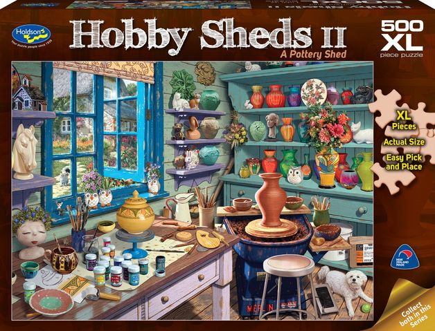 Holdson: 500 Piece Puzzle XL The Hobby Shed 2 A Pottery Shed