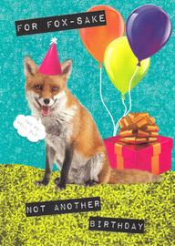 Ticker Tape Greeting Card - Fox Sake