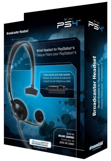 DreamGEAR Broadcaster Headset for PS4 image