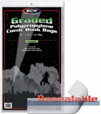 "BCW: Resealable Comic Bags - Graded (9.5"" x 13.43"")"