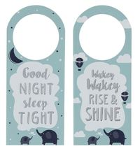 Reversible Door Hanger For Baby - Light