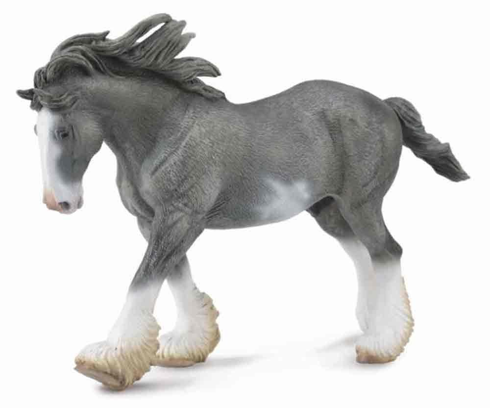 CollectA - Clydesdale Stallion (Black Sabino Roan) image
