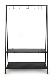 Oakley Two Shelf Clothes Stand (Black)
