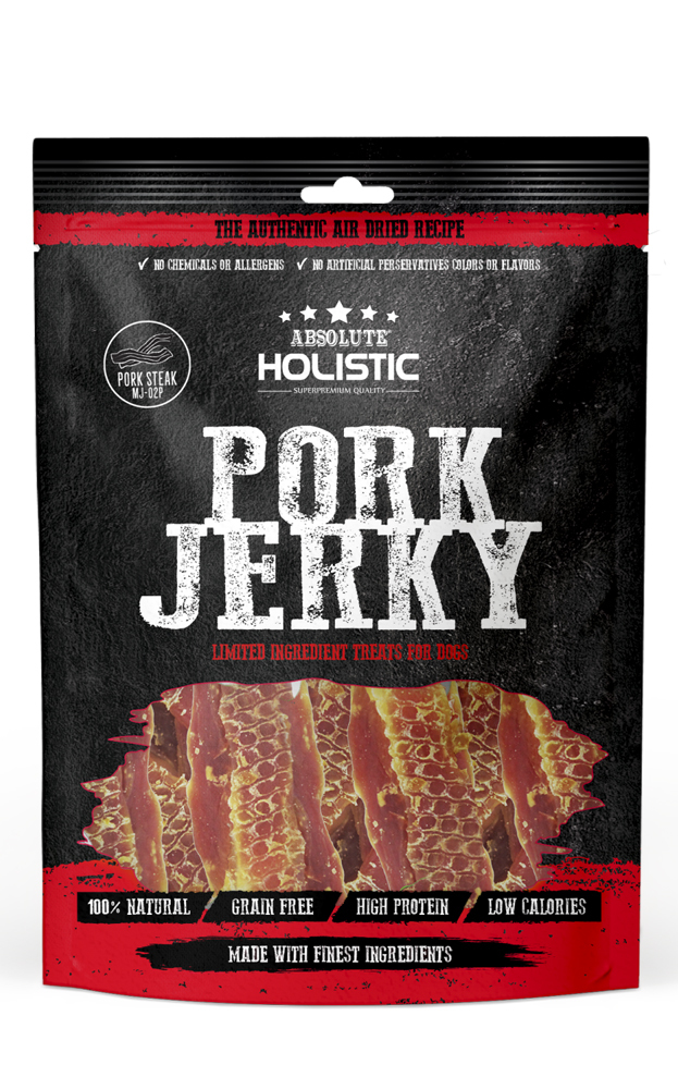 Absolute Holistic Pork Jerky for Dogs 90g image