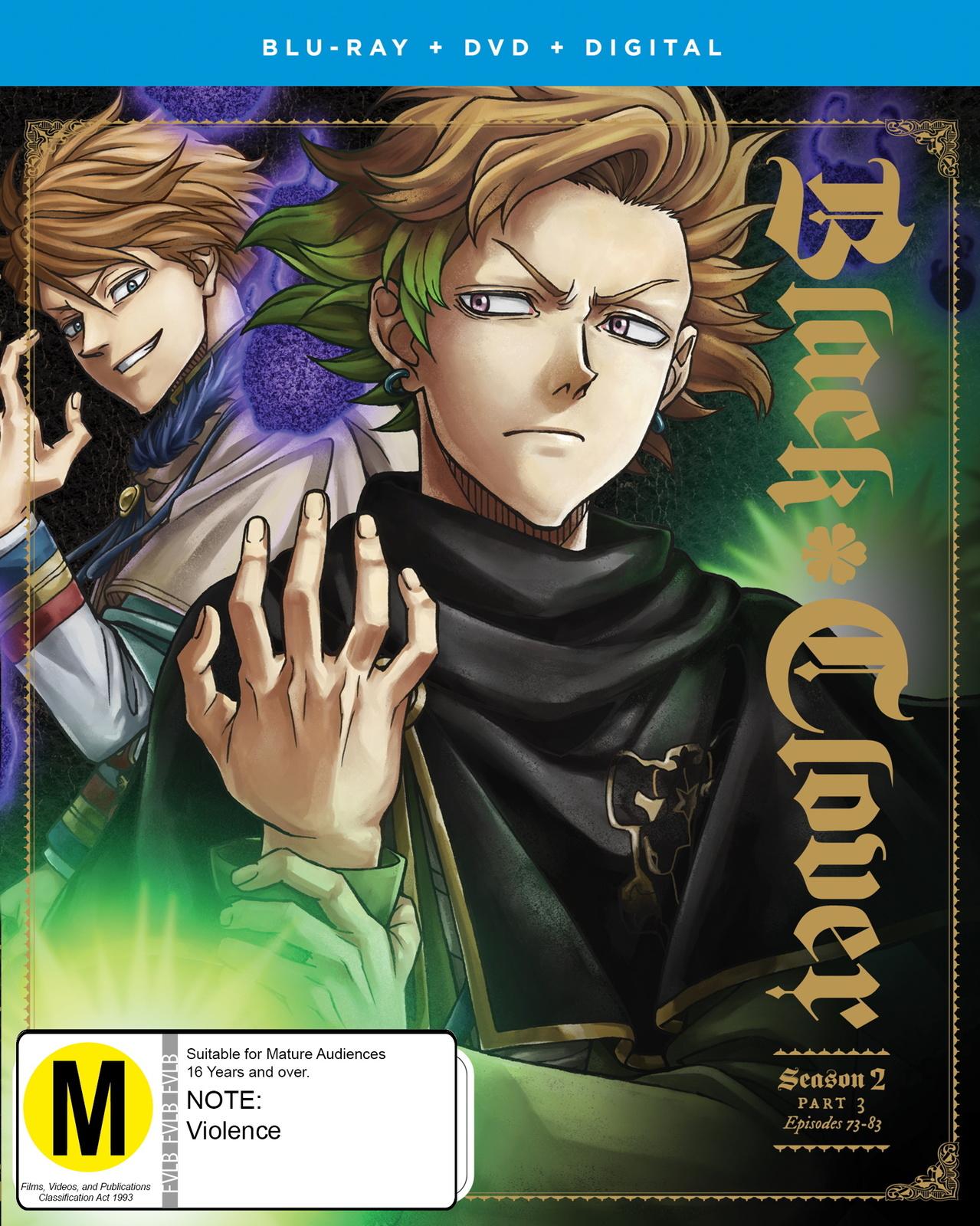 Black Clover - Season 2: Part 3 DVD / Blu-ray Combo on DVD, Blu-ray image