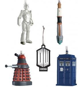 Doctor Who Christmas Ornament Gift Box (5 Pieces)