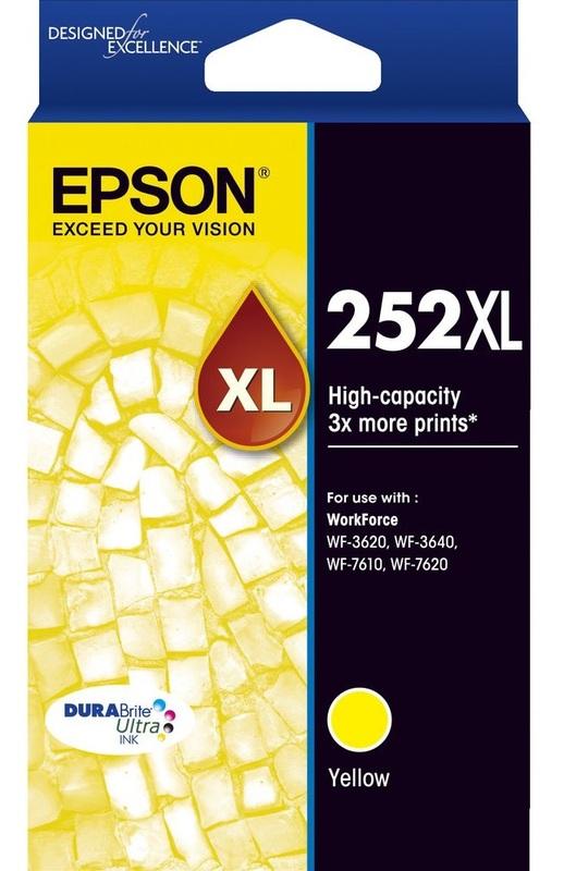 Epson Ink Cartridge - 252XL (Yellow)