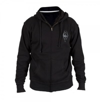 Elder Scrolls Skyrim Dragon Raw Edge Hoodie (Small)
