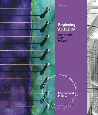 Beginning Algebra, International Edition by R. Gustafson image
