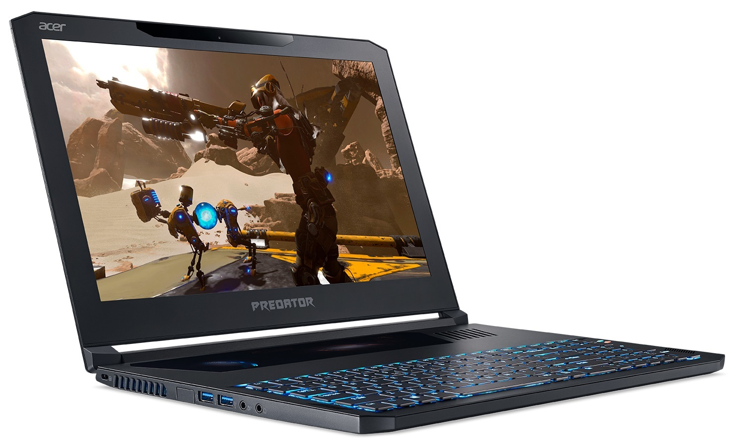 "Acer Predator Triton 700 PT715-51-70Q2 15.6"" Gaming Laptop Intel Core i7-7700HQ, 16GB RAM, GTX 1060 6GB image"