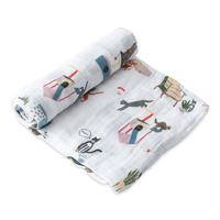 Little Unicorn - Single Cotton Muslin Swaddle - Meow