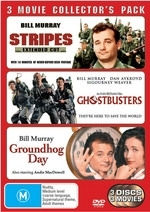 Stripes - Extended Cut / Ghostbusters / Groundhog Day - 3 Movie Collector's Pack (3 Disc Set) on DVD