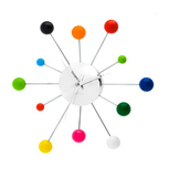 Mixed Spider Multi-coloured Wall Clock