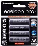 Panasonic Eneloop PRO AA 2500mAh Rechargeable Batteries - 4 Pack