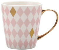 Maxwell & Williams Aurora Mug Gold Handle 300ML Diamond Pink