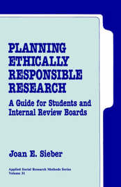 Planning Ethically Responsible Research by Joan E. Sieber image