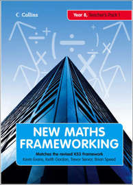 New Maths Frameworking - Year 8 Teacher's Guide Book 1 (Levels 4-5) by Keith Gordon image