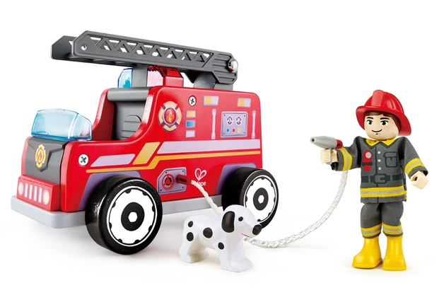 Hape: Fire-Engine - Wooden Playset