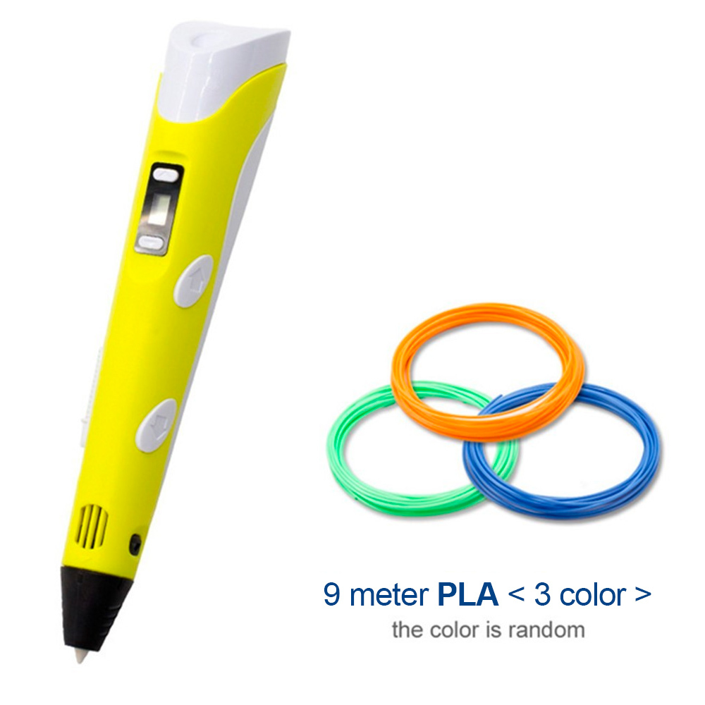 Ape Basics: USB 3D Drawing Printer Pen with Refills - Yellow image