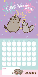 Pusheen 2018 Square Wall Calendar