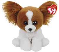 Ty Beanie Babies: Barks Brown Dog - Small Plush